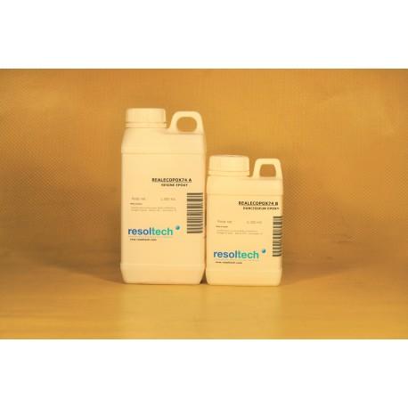 KIT RESINE EPOXY BIO-SOURCÉE (31% mélange) REALECOPOX 74 en 1,350 kgs