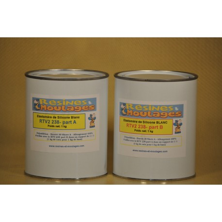 KIT RTV SILICONE MOULAGE 238 - 2 kg
