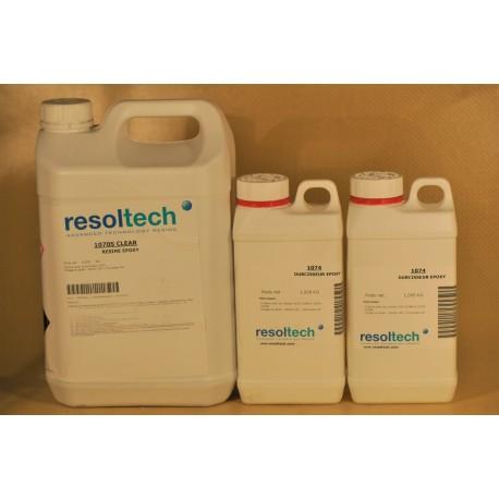 KIT RESINE EPOXY REALPOX740S TRANSPARENTE DE STRATIFICATION - 7 KGS