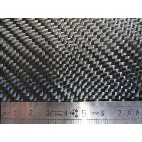 TISSU SERGÉ CARBONE 400 gr/m2 EN 1 M DE LARGE