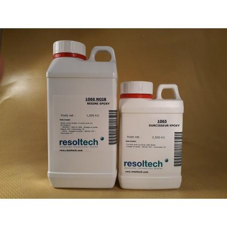 KIT RESINE EPOXY DE COULEE DIELECTRIQUE NOIRE 1060/65 - 1,5 kg