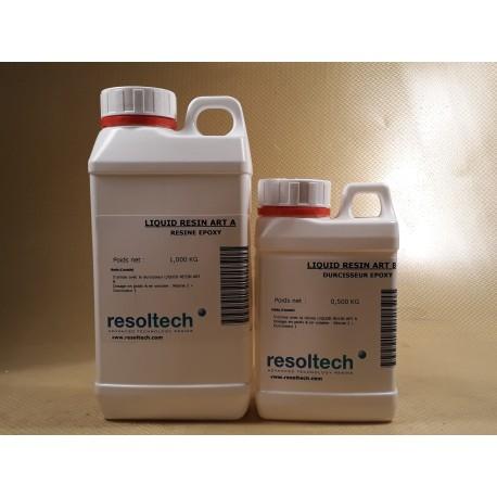 KIT RESINE EPOXY TRANSPARENTE RESIN ART 1,5 kgs